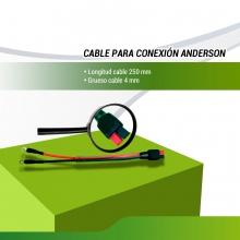 CABLE BATERIA CON CONECTOR ANDERSON ROJO + NEGRO