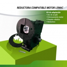 TRANSMISIÓN COMPATIBLE MOTOR LEMAC CON REDUCTORA METÁLICA
