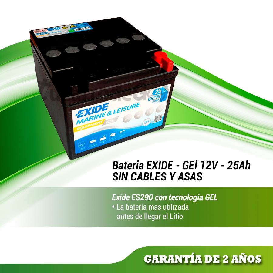 BATERIA DE GEL EXIDE 12 VOLTIOS 25 AMPERIOS ES290