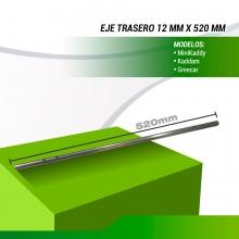 EJE TRASERO PARA CARRO DE GOLF, DIAMETRO 12mm. LONGITUD  520mm.