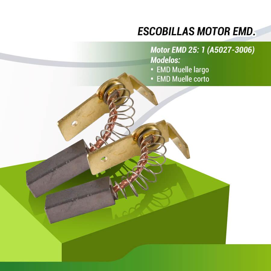 ESCOBILLA DE MOTOR EMD ( SOPORTE BAJO )