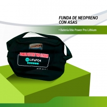 FUNDA NEOPRENO / BOLSA  BATERIA LITIO POWER PRO LITHIUM