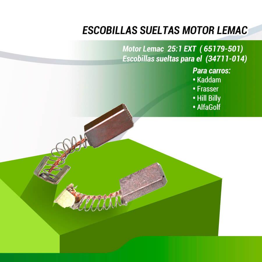 ESCOBILLAS MOTOR  LEMAC  (65179-501)