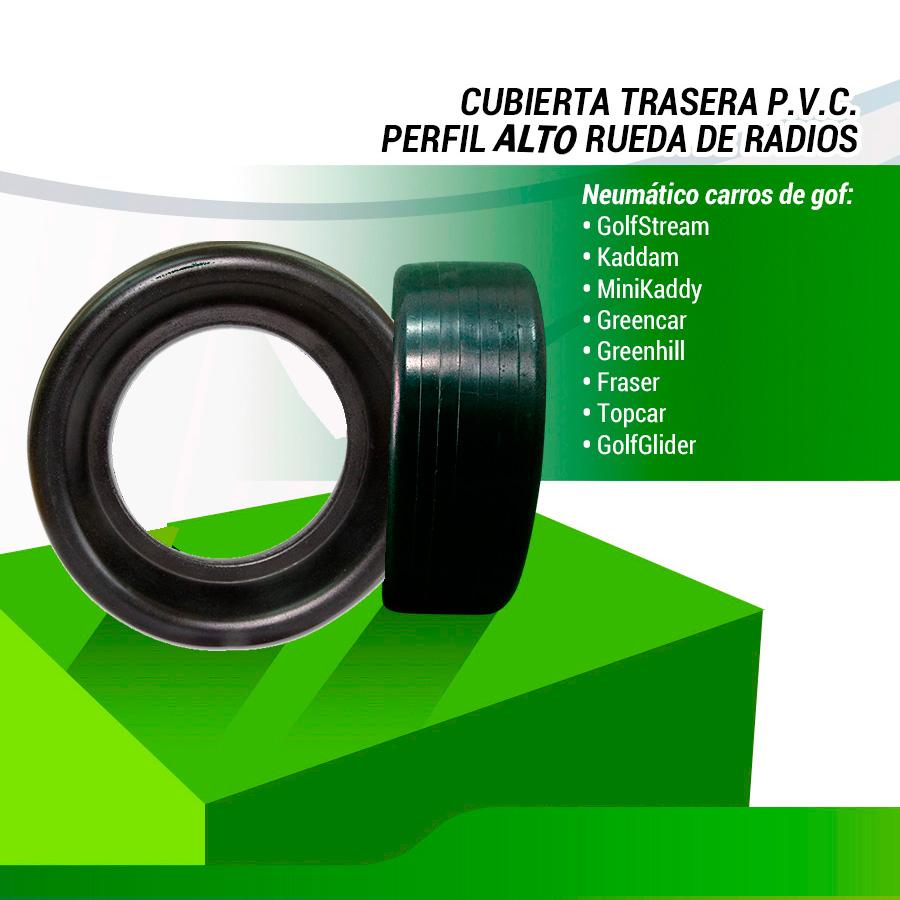 CUBIERTA ESTRECHA PVC PERFIL ALTO