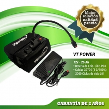 BATERIA DE LITIO VTPOWER 12V.16AH CON CARGADOR AIR COOLING